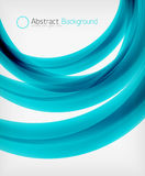 Elegant swirl shaped modern business template Stock Image