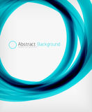 Elegant swirl shaped modern business template Royalty Free Stock Image