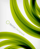 Elegant swirl shaped modern business template Stock Photo