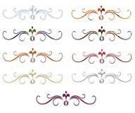 Elegant Swirled Dividers 1 Royalty Free Stock Photos