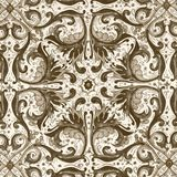Elegant symmetric ornamental pattern Stock Image