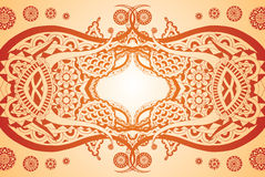 Elegant Symmetry. Detailed henna style design, easily edited Stock Photos