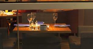 elegant tabell för matställe royaltyfri bild