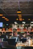 Elegant tabellinställning för eftermiddagkaffe eller te Fotografering för Bildbyråer
