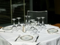 Elegant table. Five star hotel restaurant table Stock Images