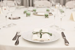 Elegant Table Royalty Free Stock Photography