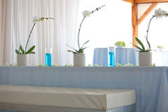 Elegant Table. Set For A Wedding Event stock image