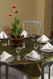 Elegant table. Nice dresed up dinner table Royalty Free Stock Image