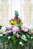 The elegant table with flowers flor wedding royalty free stock photography