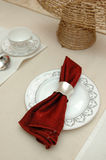 Elegant table cloth Stock Photography