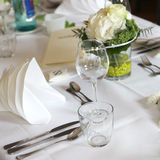 Elegant table decoration stock images