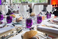 Party Wedding, Table Decoration, Catering Event Royalty Free Stock Images
