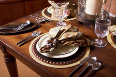 Elegant Table Place Setting Royalty Free Stock Photos