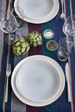 Elegant table place setting Royalty Free Stock Images