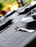Elegant table set for dinner Stock Image