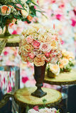 Elegant table set for an event party or wedding reception Stock Photos