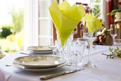 Elegant table set French France Royalty Free Stock Images