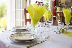 Elegant table set French France Stock Photography