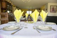 Elegant table set French France Stock Images