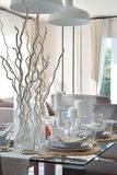 Elegant table set in modern style dining room interior Stock Image