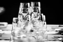 Elegant table set. Up for dinning room stock photography
