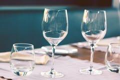 Elegant table set Stock Images