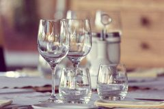 Elegant table set stock photography
