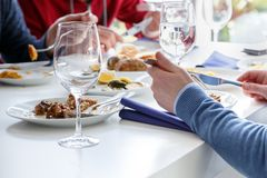 Elegant table set stock image