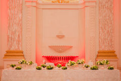 Elegant table set up for wedding banquet Royalty Free Stock Photo