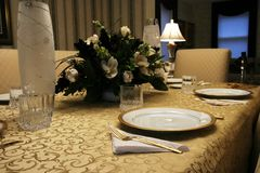 Elegant Table Setting Royalty Free Stock Photo