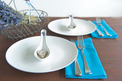 Elegant table setting Stock Images