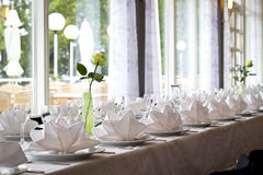 Elegant Table Setting Royalty Free Stock Photography