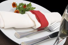 Elegant table setting Royalty Free Stock Photography