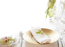 Elegant table setting background Stock Images