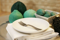 Table Setting with Empy Plate Royalty Free Stock Photo