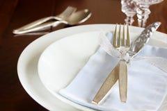 Elegant table setting Royalty Free Stock Image