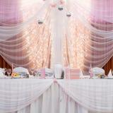 Elegant table setting for wedding Royalty Free Stock Photos