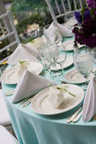 Elegant table with wedding favors Stock Photography