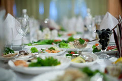 Elegant tables Royalty Free Stock Images