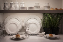 Elegant tableware at Host 2013 in Milan, Italy Royalty Free Stock Photo