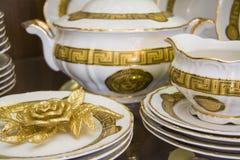 Elegant tableware set Royalty Free Stock Photo