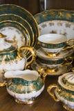 Elegant tableware set Stock Photo