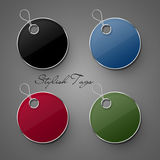 Elegant tags. Four stylish and elegant tags for discounts Royalty Free Stock Image