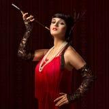 Elegant 20-talkvinna Arkivfoto