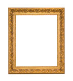 Elegant tappning för guld- ram som isoleras på vit bakgrund Arkivfoton