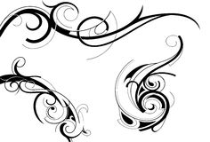 Elegant tattoo Royalty Free Stock Photos