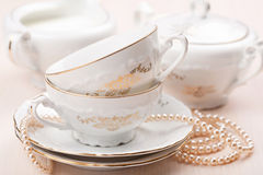 Elegant tea cups Royalty Free Stock Photo