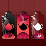 Elegant tea labels Stock Photo