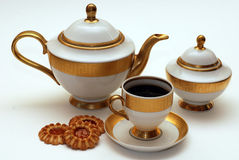 Elegant tea service Royalty Free Stock Image