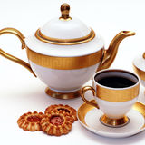 Elegant tea service Stock Photos